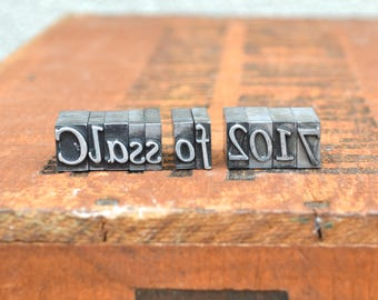 Ships Free - Class of 2017 - Vintage letterpress metal type collection - graduation, gift for graphic designer, gift for art student TS1036
