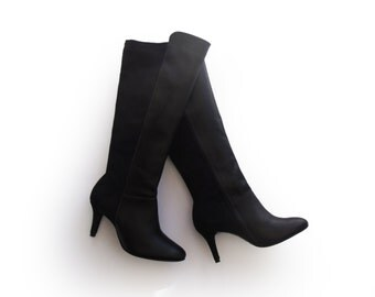 Black high boots, Below knee boots for women, Womens black boots, Leather Boots, Boots sale, Heel boots, Ladies boots, Party boots