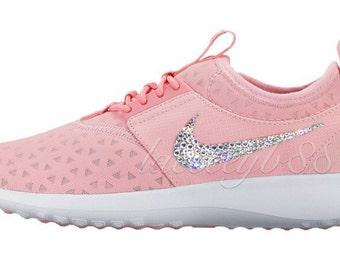 Bling Swarovski Nike Juvenate-Sheen/White/Bright Melon, Bling Nike Shoes, Bling Nike, Bling Nike Juvenate, Bling Shoes, Nike Bling