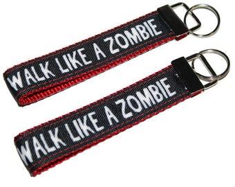 Zombie lovers keychain/ Walk Like A Zombie / Zombie The Walking Dead Keyfobs