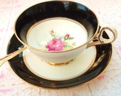 Vintage Tea Cup | Vintage Teacup Set | Pink Roses Teacup | Mid Century Teacup | 1940's Tea Cup | Old Royal China England 'Wetley Rose'