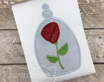 Enchanted Rose Machine Embroidery Applique Design