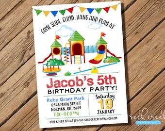 Playground Invitation, Playground Party, Park Birthday Invitation, Park Birthday Party, Park Party, Printable Invitation for Birthday Party