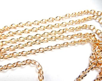 KC Gold Plated Cable Chain Unfinished 5M - 22-25-3