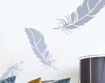 Feather Stencil, Wall Art Stencil, Home Wall Décor, Feather Wall Décor,  Decorating