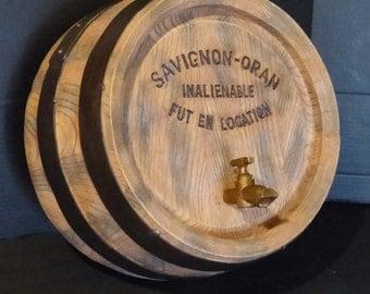 Wine collector / French Vineyard / Savignon Oran barrel / Vintage Wine Spigot / Wall Sculpture / man cave / restaurant display