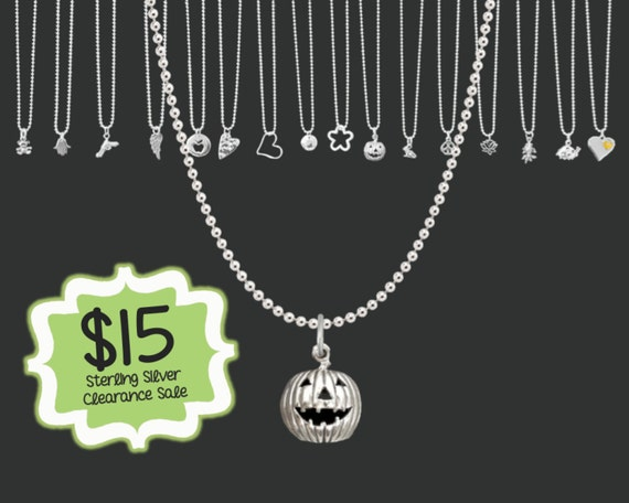 CLEARANCE SALE | Tiny Jack 'O Lantern Necklace | Minimalist Necklace | Layering Necklace | Dainty Jewelry | Korena Loves