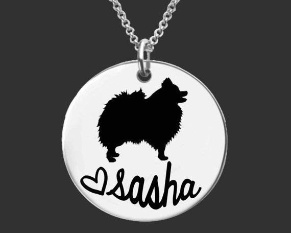 Pomeranian Necklace   Pomeranian Jewelry   Personalized Dog Necklace   Personalized Gifts   Korena Loves