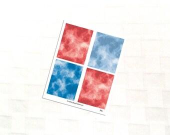 Patriotic Watercolor Header Planner Stickers, Vinyl Stickers, Kit Add On