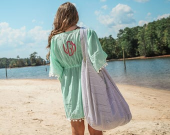 Cotton Beach Coverup with Personalized Embroidery