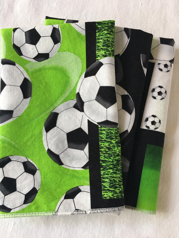 Green soccer ball all cotton cloth lunch box napkin 12x15 for 12x15 calculator