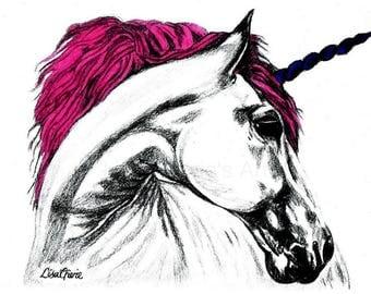 Unicorn Print, unicorn art, nursery prints, animal nursery, unicorn artwork, animal prints, mythological art prints, fantasy art prints