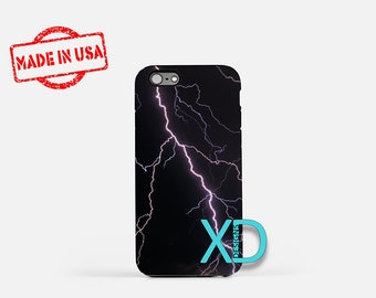 Lightening iPhone Case, Weather iPhone Case, Lightening iPhone 8 Case, iPhone 6s Case, iPhone 7 Case, Phone Case, iPhone X Case, SE Case