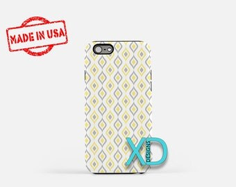 Wallpaper Phone Case, Wallpaper iPhone Case, Pale iPhone 7 Case, Yellow, Gray, Pale iPhone 8 Case, Wallpaper Tough Case, Clear Case, Retro