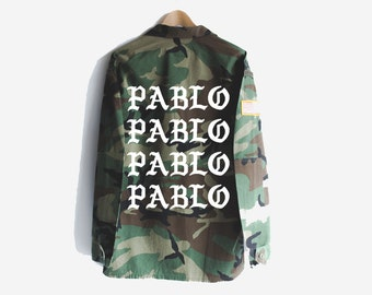 Pablo Kanye West Yeezy Yeezus Vintage Camo Camouflage Military Jacket