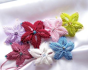 Macrame flowers for your DIY project