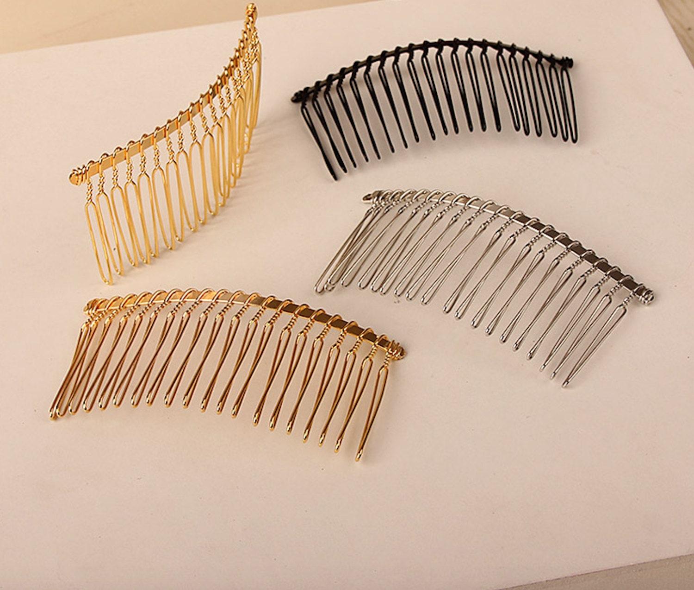 5pcs silver gold hair combs wire metal hair combs large for Metal hair combs for crafts