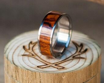 Mens Wedding Band Wood Ring - Staghead Designs