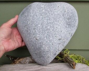LARGE Natural Heart Shaped Rock - 13 pounds - Beach Stone Heart - Love Rock - Wedding - Anniversary - Zen Garden Stonescaping HR 105
