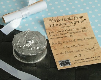 Great Oaks from Little Acorns Grow Personalised Christening Box