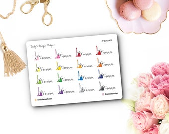 Vacuum//Functional Stickers//Planner Stickers