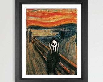 The Scream art parody print