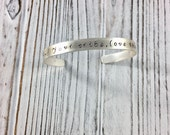 CUSTOM for mindybinderman Find Your Tribe Love Them Hard Silver Cuffs