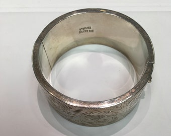Antique Vintage Large Silver Bracelet Turn of the century