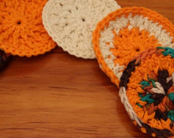Set of 5 Hand Crocheted 100% Cotton Scrubbies for Face or Household Use