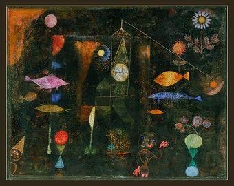 Fridge Magnet, Fish Magic, by Paul Klee German Expressionist painter, 1925,