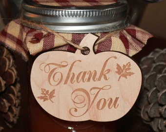Thank You/Pumpkin/Gift Tag/Wedding/Favor/Wedding Ornament/Tag/Fall Wedding/Wood/Napkin/Shower Favors/Pumpkin/Autumn/Mini Pumpkin