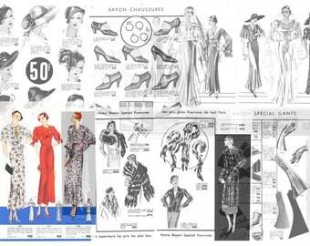 Vintage 1930s French Toutman Mail Order Catalog Hats, Bags  - Digital Download PDF eZine