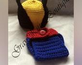 3-6m Crochet Wolfverine Baby Costume