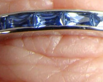 14kt white gold 9 stone Anniversay Band perfect for stacking