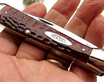 Vintage 1940's Case XX Red bone Copperhead Knife 6249 Mint