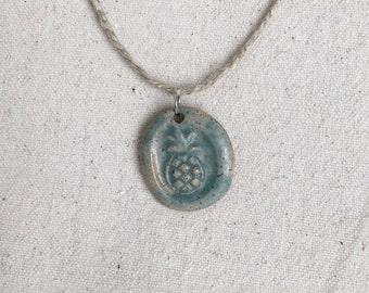 Ceramic Pineapple Pendant