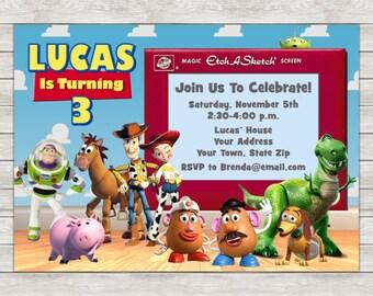 Toy Story Birthday Invitation - Printable File or Printed Invitations