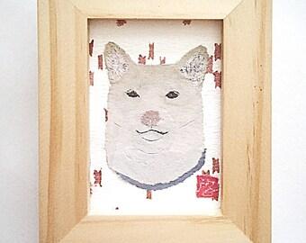Shiba Inu Art, Shiba Inu Gift, 柴犬, Original, Cream Shiba Inu