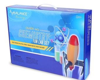 Balance Living Chemistry Fun Lab Set with over 40 Fun and Exciting Experiments (Box size 17 X 7 Inch)