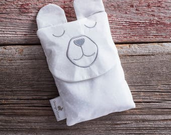 Boo boo bag, heating pad, baby gift, toddler gift, bear baby gift, white bear, teddy bear, christening gift, baby shower gift, neutral gift