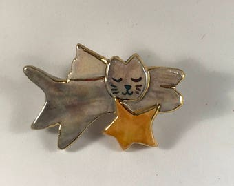 Angel Kitty Pin