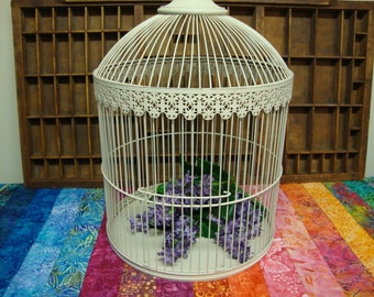 Large Off White Birdcage