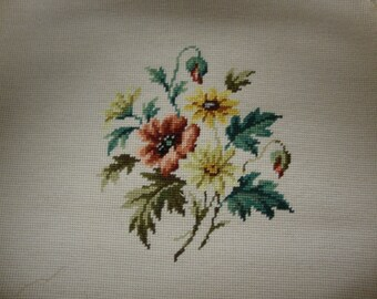 Floral Needlepoint Chair Cover