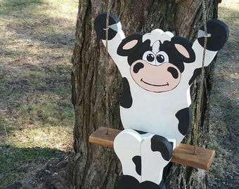 Swinging Barn Yard Cow