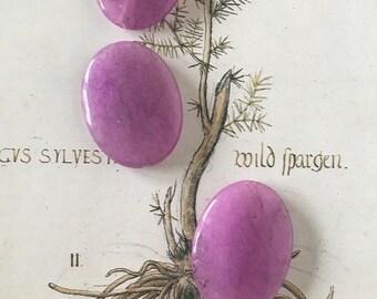 Large Dyed Jade Beads, Jade Pendants, 30mm x 40mm, 2Pcs