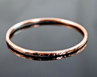 Bangle Bracelet-Copper Bangle Bracelet-Copper Bracelet-Rose Gold-Pure Copper Bangle Bracelet- One Bangle Bracelet