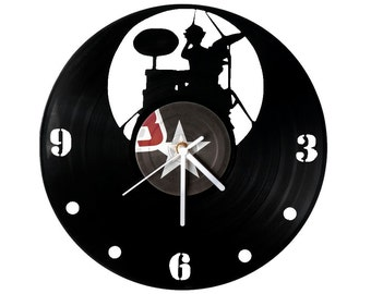 Vinyl clock Drums