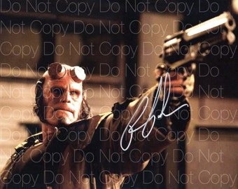 Hellboy signed Ron Pearlman 8X10 photo picture poster autograph RP