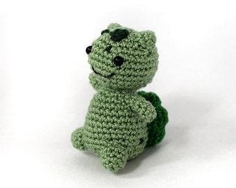 Mini Bulbasaur Crochet Amigurumi Ready to Ship