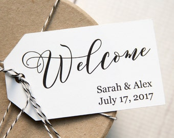 Welcome Tag - Event Tags - Wedding Welcome Tags - Welcome Gifts - Welcome Gift Tags - Welcome Bags - Custom Tags - Personalized Tags - LARGE